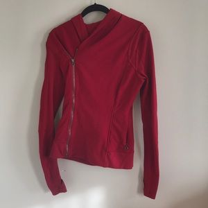Red Lululemon side zip